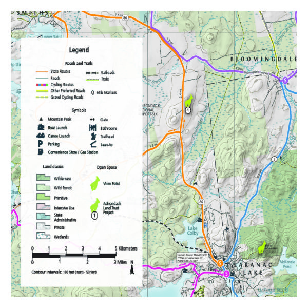 Lake Placid & Saranac Lake Cycling Map - Green Goat Maps