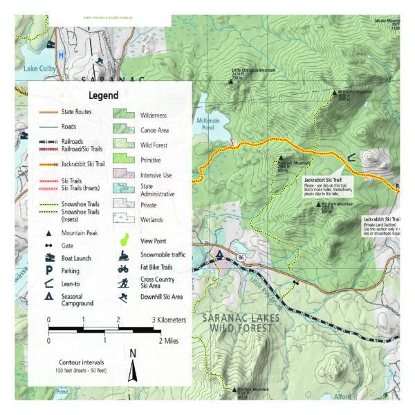 0ccb14a1d36f5 Lake Placid & Saranac Lake Winter Trails Map (Wholesale)