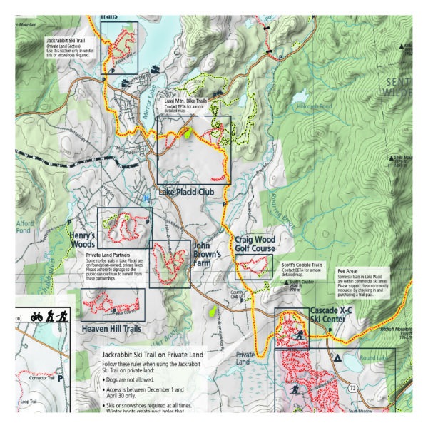 Lake Placid & Saranac Lake Winter Trails Map - Green Goat Maps